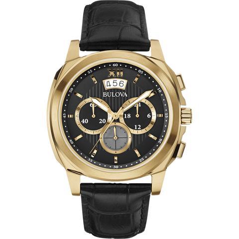 55f854ba917fe Relogio masculino bulova pulseira de couro preta wb31818u - Relógio ...