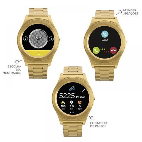 1a8475844218d Imagem de Relógio Masculino Connect Srab 4p Dourado Smartwatch Technos