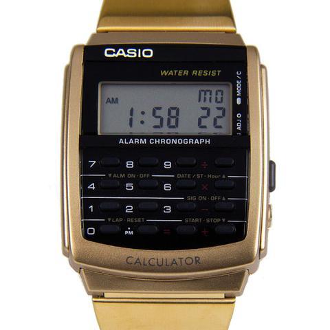 Imagem de Relógio Masculino Dourado Casio Calculadora CA-506G-9ADF