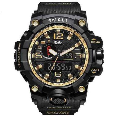 6f5fd799eee Relógio Masculino Militar G-shock Smael 1545 Prova Dágua - Relógios ...