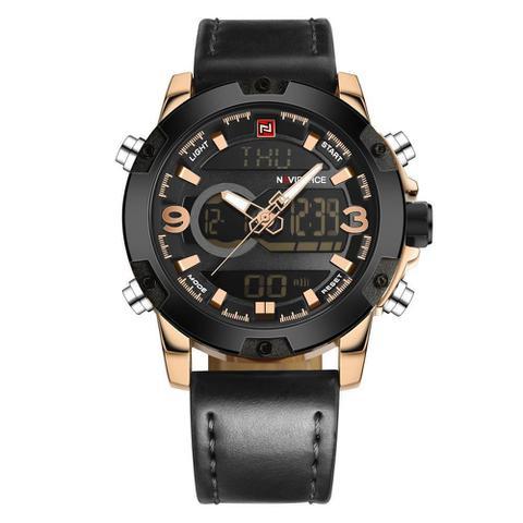 Imagem de Relógio Masculino Naviforce 9097 - Preto Dourado