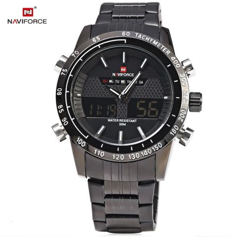 Imagem de Relógio Masculino Naviforce AnaDigi de Aço 9024 PB