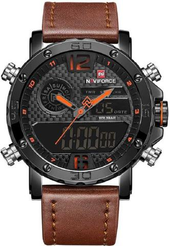 Imagem de Relógio Masculino Naviforce Esportivo Militar Pulseira Couro 9134