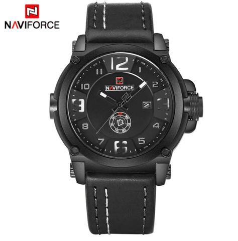 Imagem de Relógio Masculino Naviforce Militar Esportivo Pulseira Couro