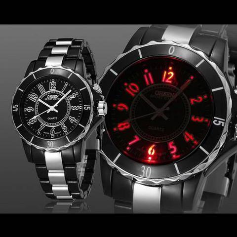 Imagem de Relógio Masculino Pulso Ohsen Sport 7 Cores Led