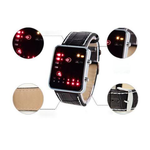 Imagem de Relógio Masculino Pulso Sport Led Digital Sistema Binário