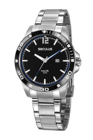 Imagem de Relógio Masculino Seculus 20790G0SVNA3 45mm Aço Prata