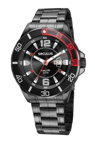 Imagem de Relógio Masculino Seculus 23652GPSVPA2 48mm Aço Preto