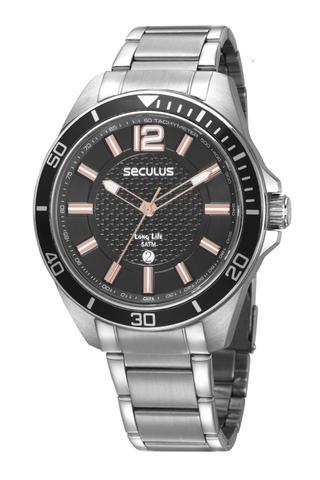 Imagem de Relógio Masculino Seculus 77036G0SVNA3 48mm Aço Prata