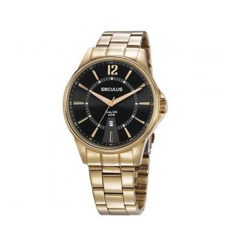 Imagem de Relógio Masculino Seculus Dourado 35016GPSVDA1