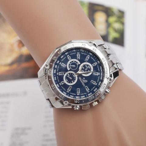 Imagem de Relógio Masculino shshd de Aço Inoxidável de Pulso Azul