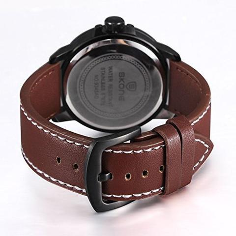 f1d67476daf Relógio Masculino Skone Analógico Casual 9345AG Marrom - Relógio ...