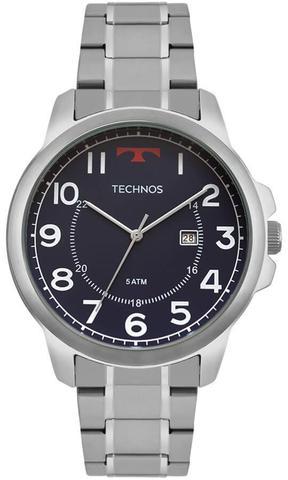 Imagem de Relógio Masculino Technos Classic Steel 2115MOZ/1A 45mm Aço Prata