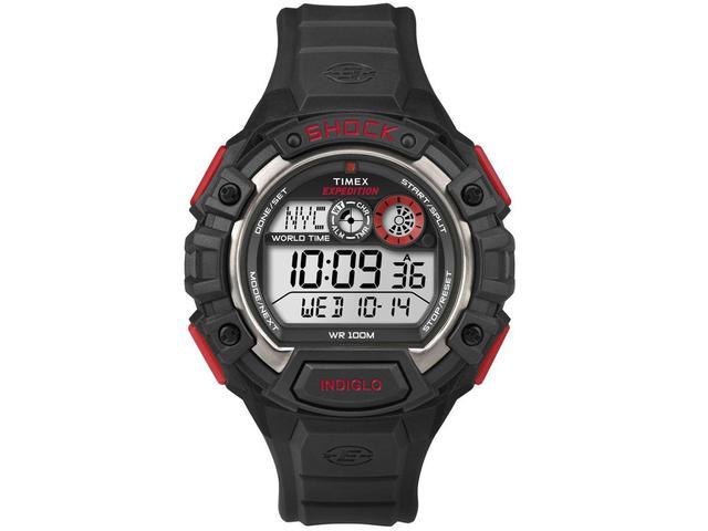 Imagem de Relógio Masculino Timex T49973WW Digital  - Resistente à Água com Cronômetro e Calendário