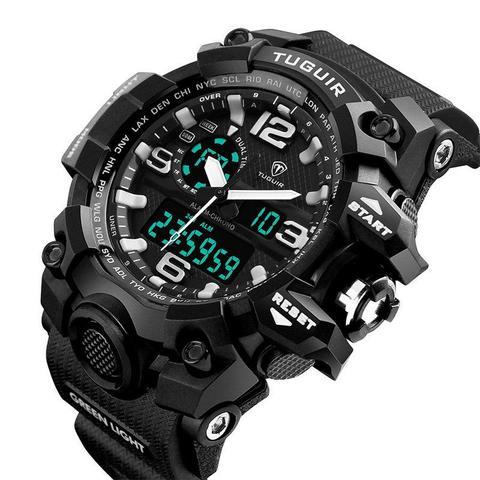 d2bac8e1fc1 Relógio Masculino Tuguir Anadigi TG1155 Preto e Branco - Relógio ...