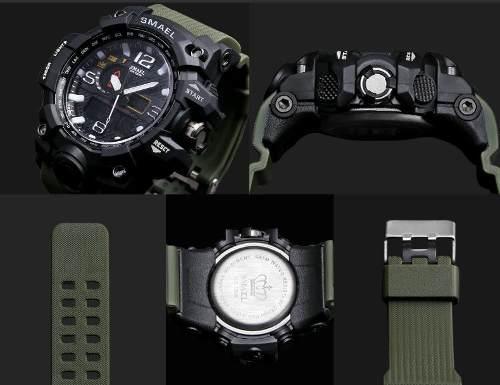diseño unico selección especial de venta minorista Relógio Masculino Verde Smael G-shock Militar Prova D'água 1545