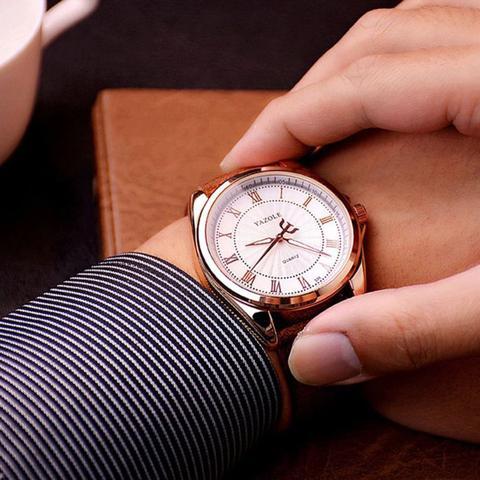 Imagem de Relógio Masculino Yazole 336 Pulseira Em Couro