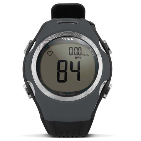 Imagem de Relógio Monitor Cardíaco Smart Run Atrio HC008 Preto e Cinza Esportivo Contador Calorias Com Cinta