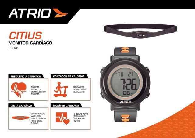 Imagem de Relógio Monitor Com Cinta Cardíaco Corrida Calorias