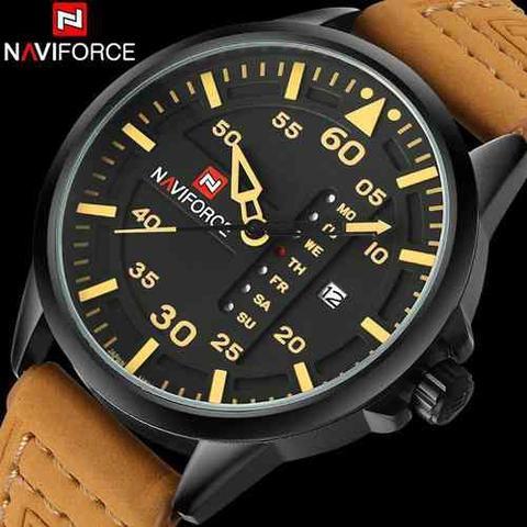 Imagem de Relogio Naviforce Luxo Lançamento Modelo 9074