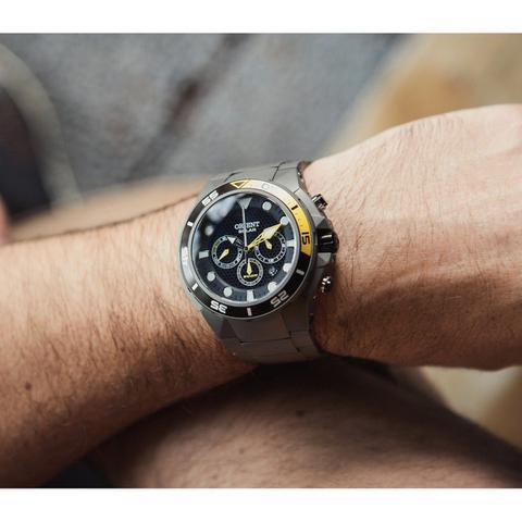 Imagem de Relógio Orient Titânio Sea Tech Mbttc014 - 500m Solar