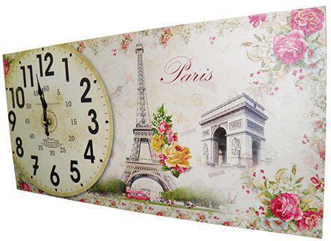 Imagem de Relogio Para Parede Cozinha Vintage Retro Decoracao Monumentos Paris (XIN-04)