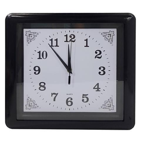Imagem de Relógio parede quadrado quartz 19cm - centro oeste
