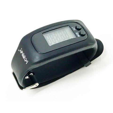 Imagem de Relógio pedômetro contador de passos e calorias preto - Liveup