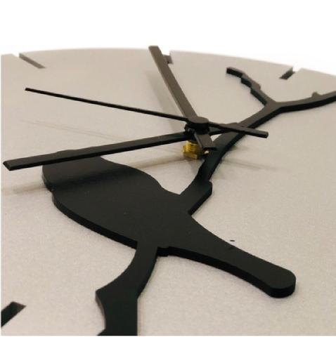 Imagem de Relógio Prata com passarinho decoração Sala Cozinha