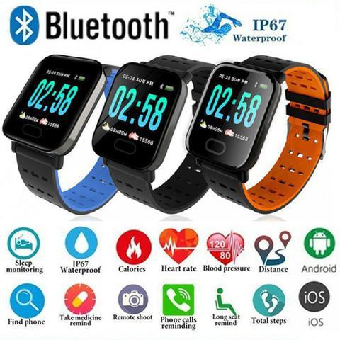 Imagem de Relógio Pulseira A6 Smart Band Inteligente Digital Saúde