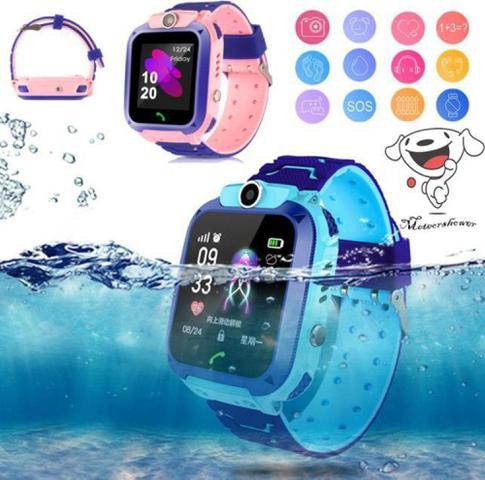Imagem de Relógio Q12 Inteligente Infantil SOS Smartwatch Prova D'Agua Rosa - Ebai