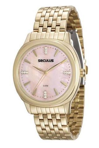 Imagem de Relógio seculus feminino 20504lpsvds1 prata long life