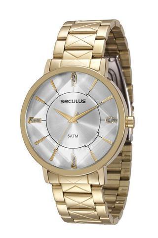 Imagem de Relógio seculus feminino dourado 23580lpsvds1