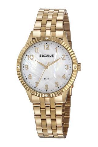 Imagem de Relógio Seculus Feminino Dourado 77047LPSVDS2