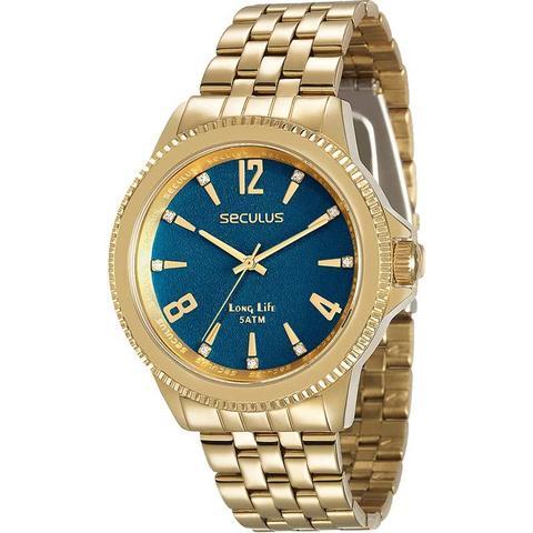 Imagem de Relógio Seculus Feminino Dourado Long Life 28664LPSVDA3