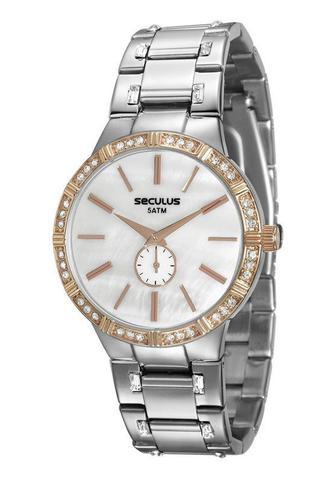 Imagem de Relógio seculus feminino prata e rosé 23579lpsvgs2