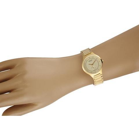 Imagem de Relógio Seculus Feminino Ref: 20774lpsvds1 Line Slim Dourado