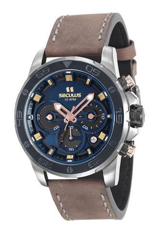 Imagem de Relógio seculus masculino couro 13016gpsvsc3