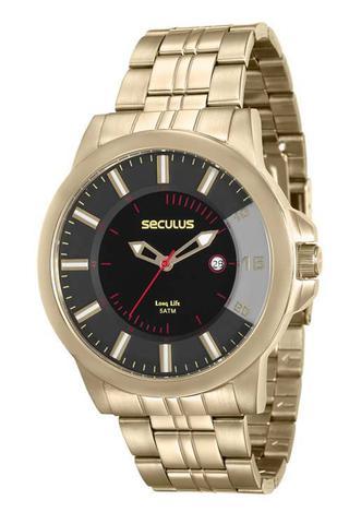 Imagem de Relógio seculus masculino dourado 20468gpsvda1