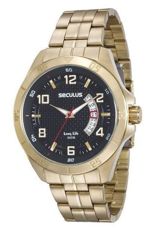 Imagem de Relógio seculus masculino dourado 20469gpsvda1