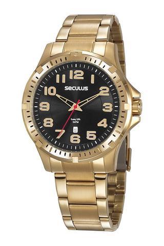 Imagem de Relógio Seculus Masculino Dourado 20787GPSVDA3