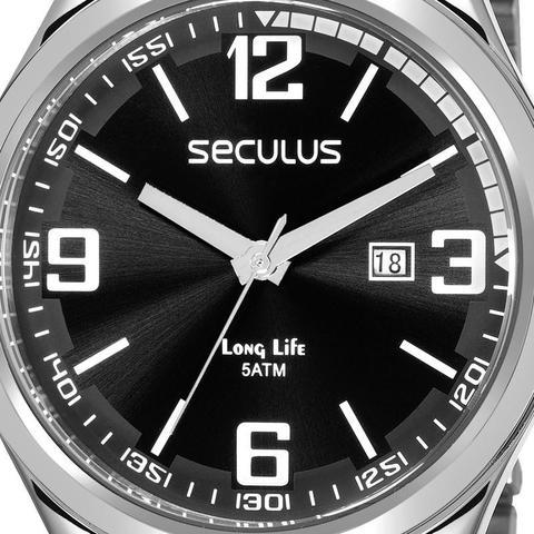 Imagem de Relógio Seculus Masculino Prata Long Life 23645G0SVNA1