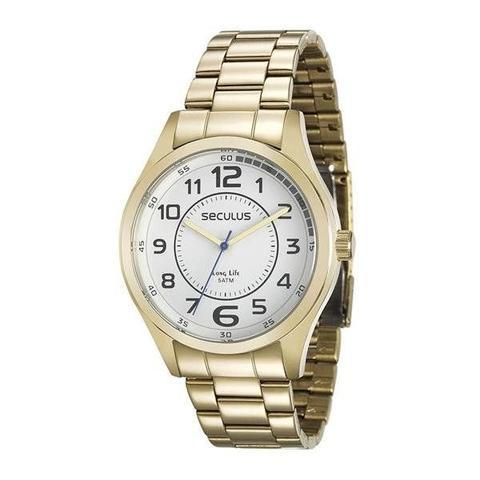 Imagem de Relógio Seculus Masculino Ref: 28921gpsvda2 Casual Dourado