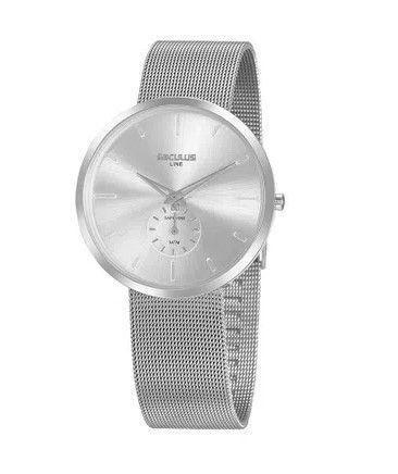 Imagem de Relógio seculus minimalista malha de aço 20877g0svna1