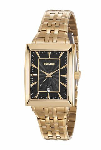 Imagem de Relógio Seculus Quadrado Clássico 20608GPSVDA1 Dourado