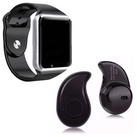Imagem de Relógio Smartwatch A1 Inteligente Gear Chip Celular Touch Mini fone de Ouvido Bluetooth S530, Prata