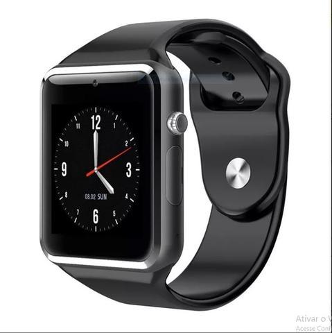 Imagem de Relógio Smartwatch A1 Touch Bluetooth Gear Chip Novo  Preto