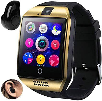 Imagem de Relógio Smartwatch Q18 Inteligente Gear Chip Celular Touch + Mini Fone de Ouvido Bluetooth