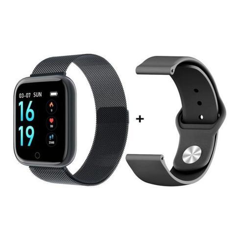 Imagem de Relógio Smartwatch T80s Bluetooth Pressão Arterial Frequência Cardíaca Oxigênio Preto