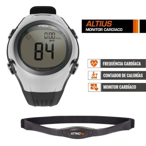Imagem de Relógio Sport Monitor Cardíaco Altius Cinza Com Cinta Hc008 - Atrio